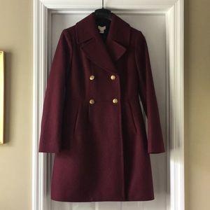 J. Crew Factory Wool Dress Coat 00 NWT